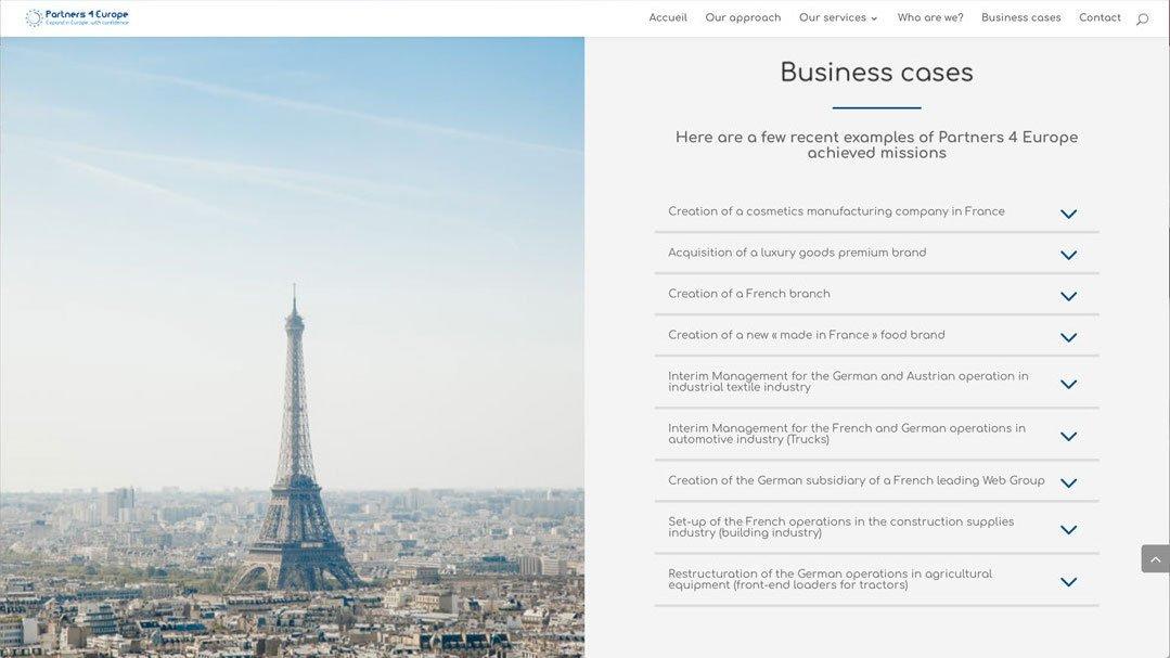 Webatheart.com design Advisense-consulting ex3